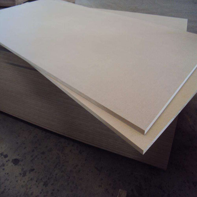 Wood Fiber Material 17mm Plain MDF Board , Laminated Mdf Sheets For Decoration